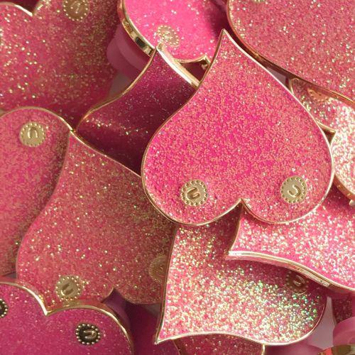 Pink boobie enamel pin badge