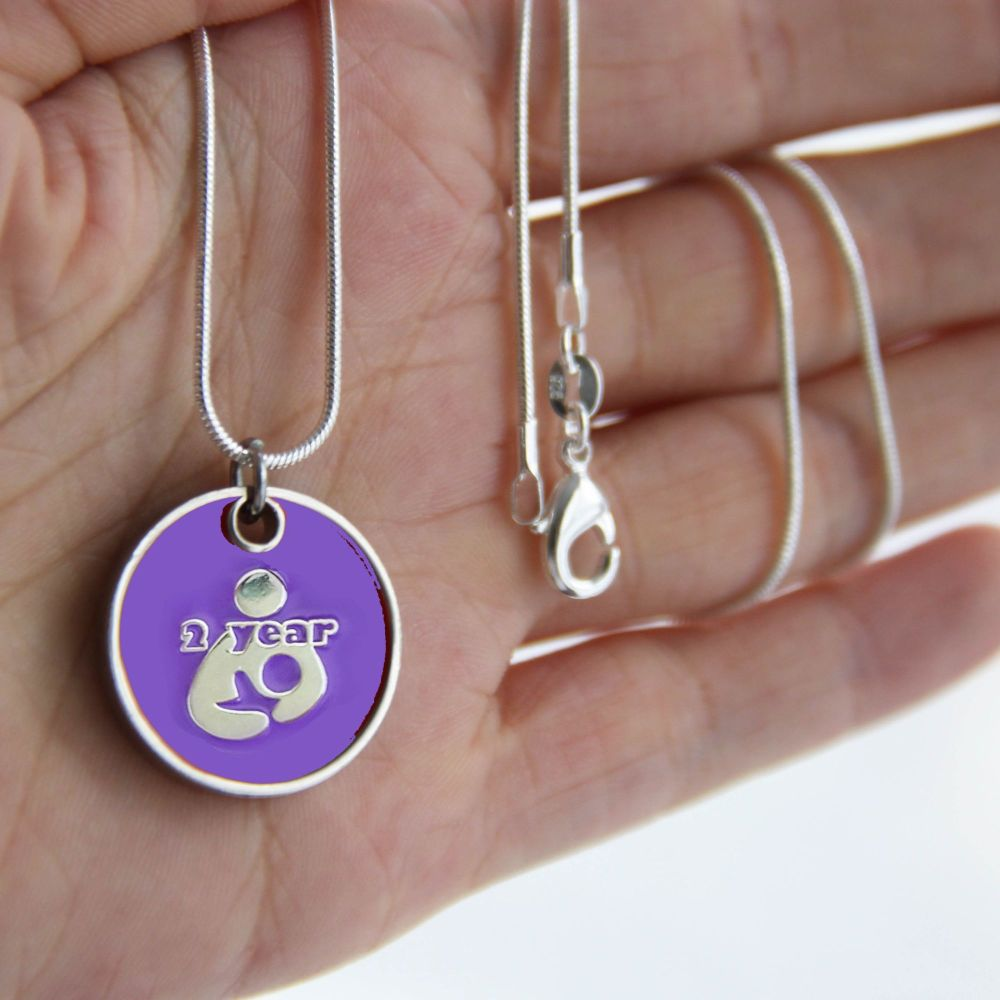 2 year Token with Silver Necklace