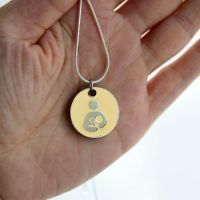 EBM Token with Silver Necklace