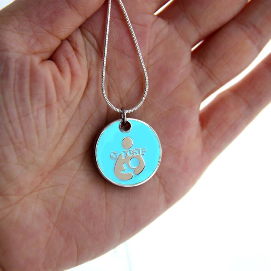 5 year Token with Silver Necklace