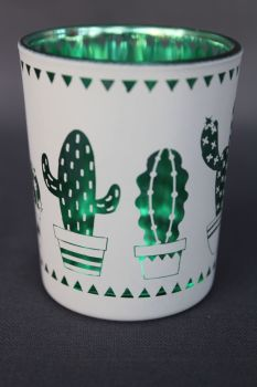 Cactus Tea Light Holders Set of 2
