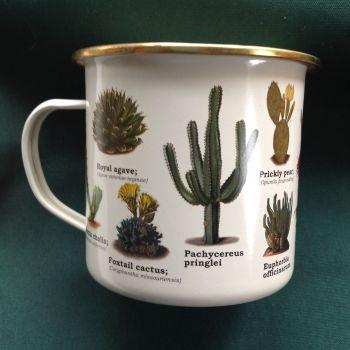 Cactus Enamelled Mug