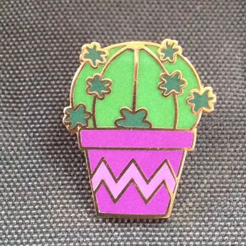 Cactus Lapel Pin Badge No.3