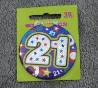 """""""21"""" Badge"""