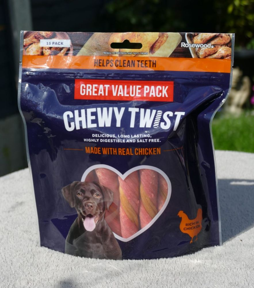 Rosewood Chewy Twist Chicken 15 Pack - 345g