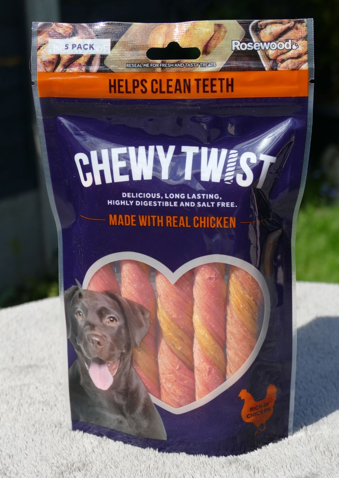 Rosewood Chewy Twist Chicken 5 Pack - 115g