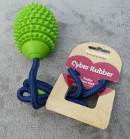 Rosewood Cyber Rubber Rugby Rope Ball - Green
