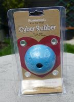 Rosewood Cyber Rubber Treat Ball - Small - Blue