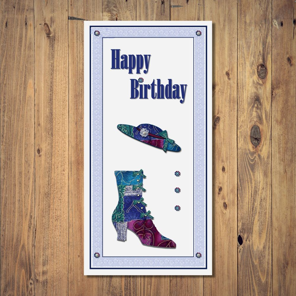 Handcrafted Birthday Greetings Card from my Happy Hobbies range. This colou