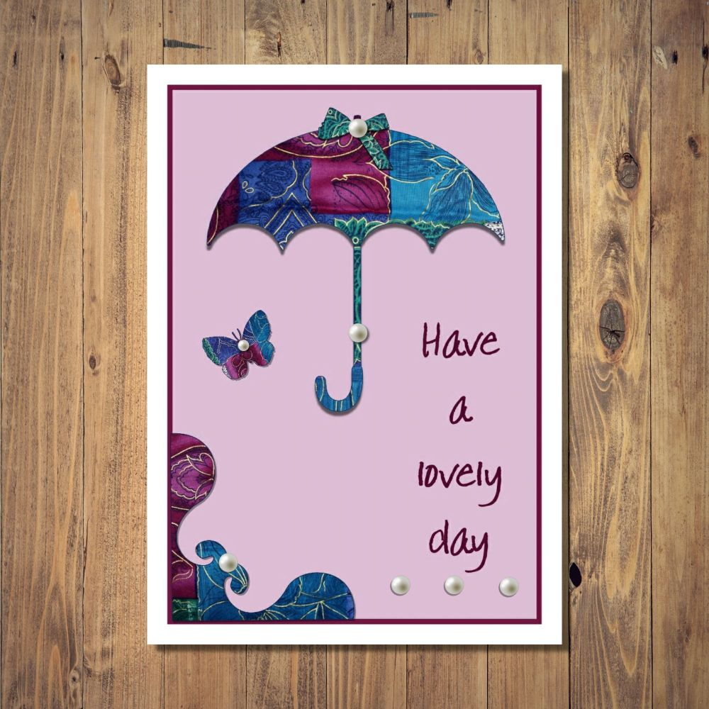 Patchwork Parasol Any Occasion Card