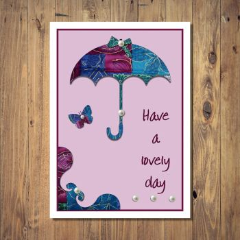 Patchwork Parasol Lovely Day Card