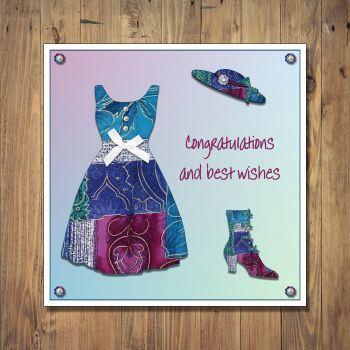 Patchwork Dress Congratulations Card