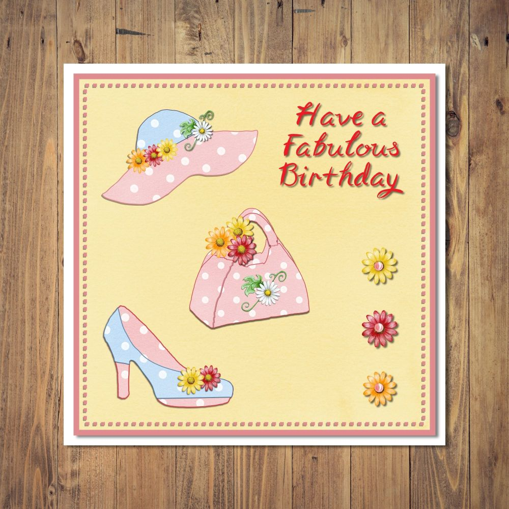 Stylish Summer Birthday Card