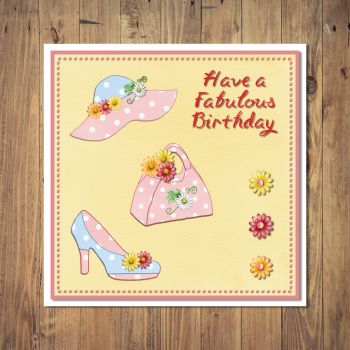 Stylish Summer Fashion Birthday Card