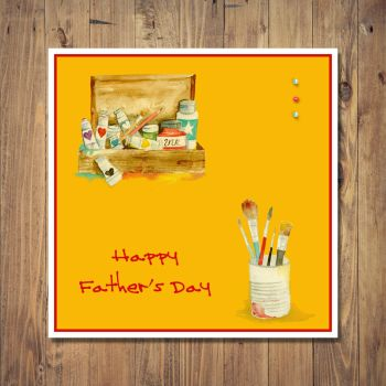 Art Materials Design Father's Day Card