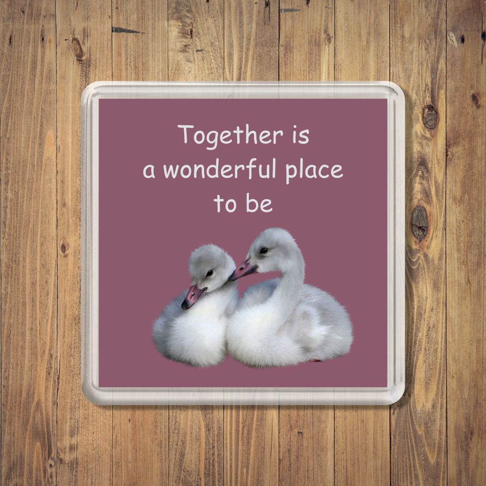 Together Is A Wonderful Place Coaster