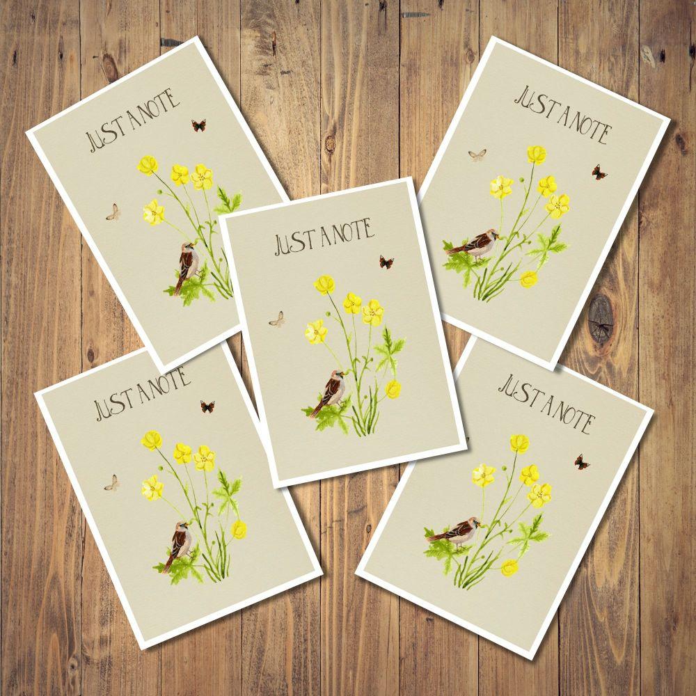 <!-- 001 -->Wildflower Set of 5 Notecards