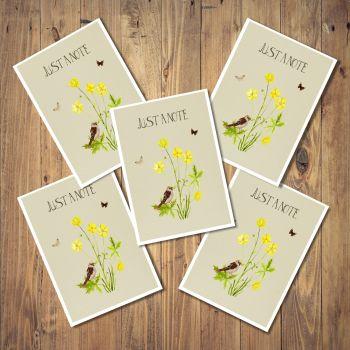 Wildflower Set of 5 Notecards