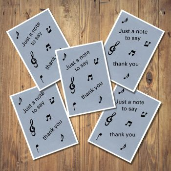 Musical Notes Set of 5 Notecards