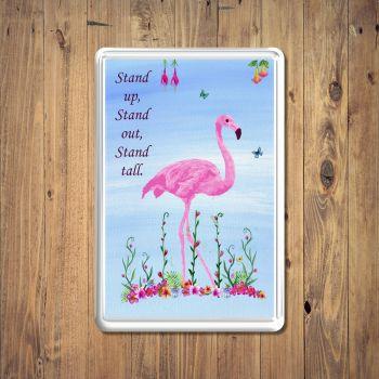 Tropical Pink Flamingo Fridge Magnet