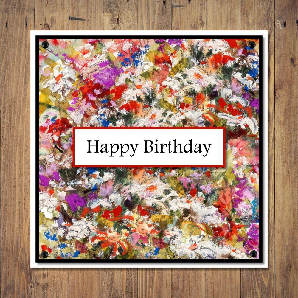 Fine Art Florals Birthday Card