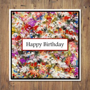 Fine Art Floral Design Birthday Card