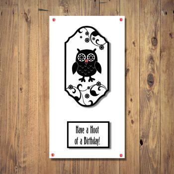 Hoot Silhouette Owl Birthday Card
