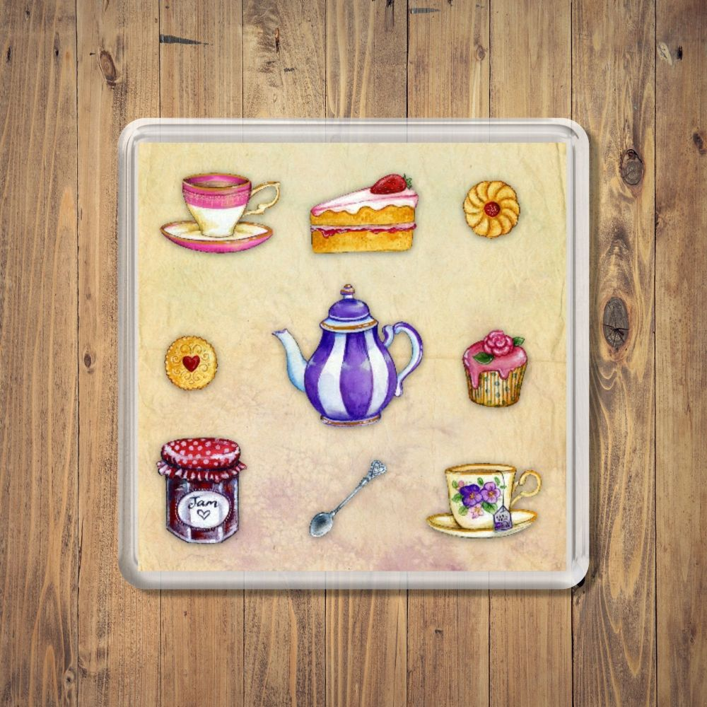 Tea Room Square Coaster