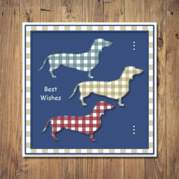Three Dachshund Dogs Any Occasion Card