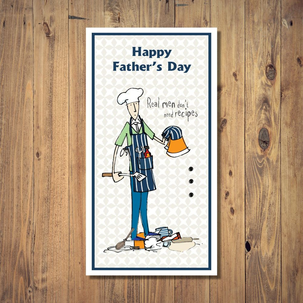 Real Men Recipes Father's Day Card
