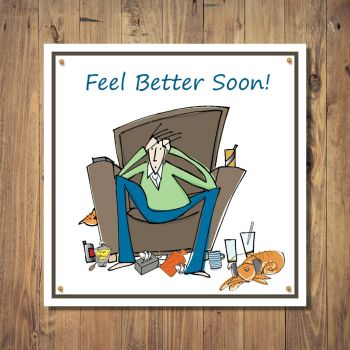 Feel Better Soon Cartoon Get Well Card