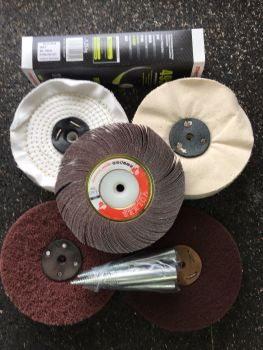 Polishing Supplies for use with 6 inch bench grinders