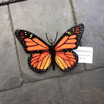 Large steel monarch butterfly