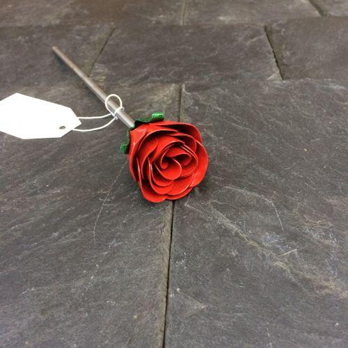 Red steel rose