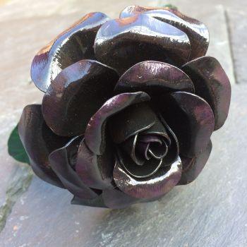 Black and purple steel rose
