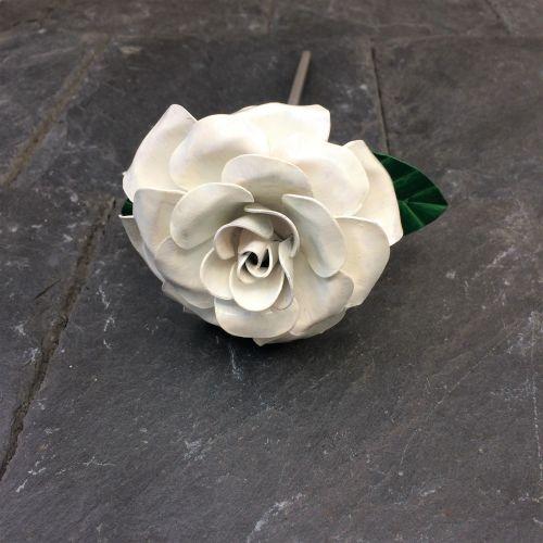 White steel rose
