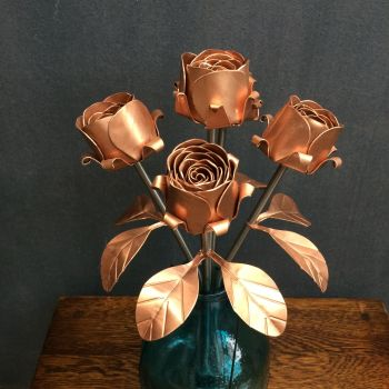 Copper rose bouquet