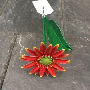 Orange steel gerbera daisy