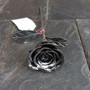 Steel metal rose