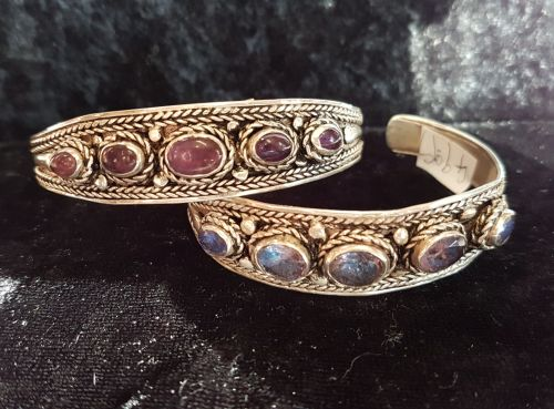 Gemstone Cuff Bracelets ~ Choice Of Stone