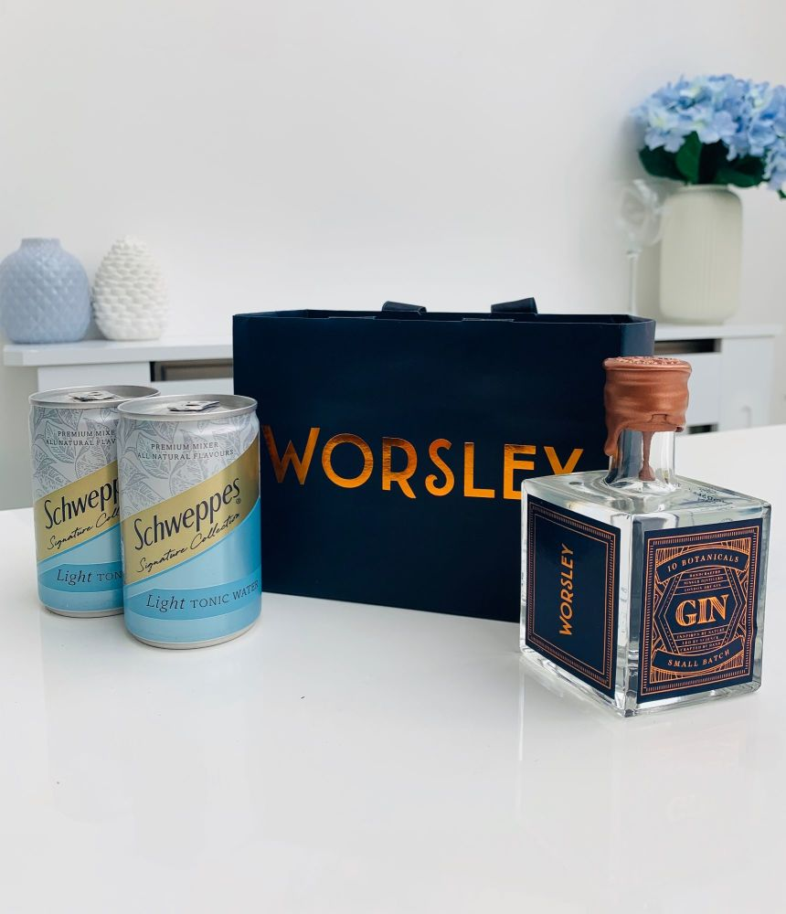 Worsley Gin 10cl Luxury Gin Gift Set