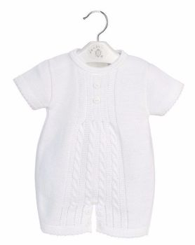 Charlei Cable Knit Romper - White