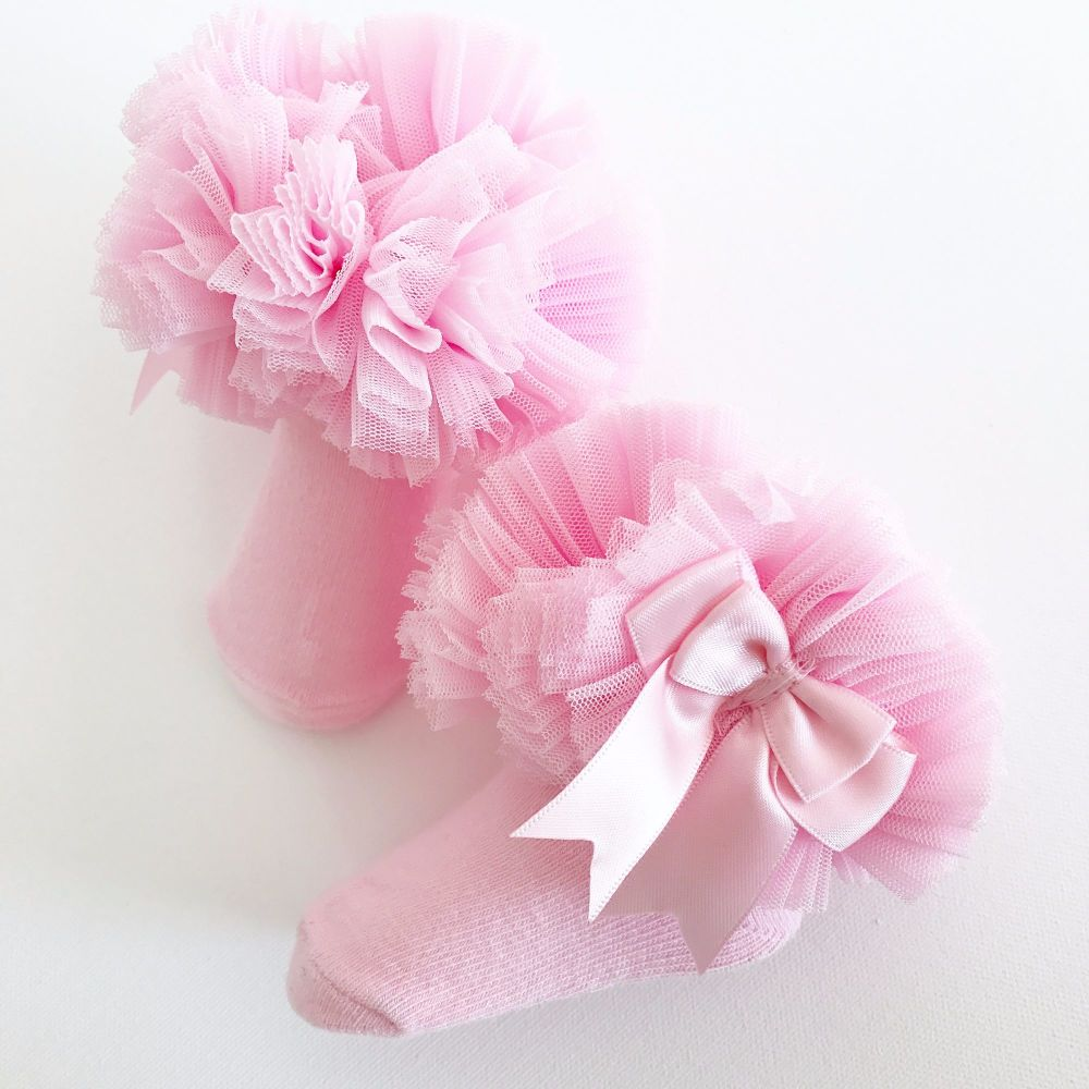 Tutu Sock With Bow - Pink