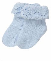 Handmade Pure Cotton Baby Socks - Blue