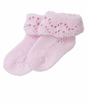 Handmade Pure Cotton Baby Socks - Pink