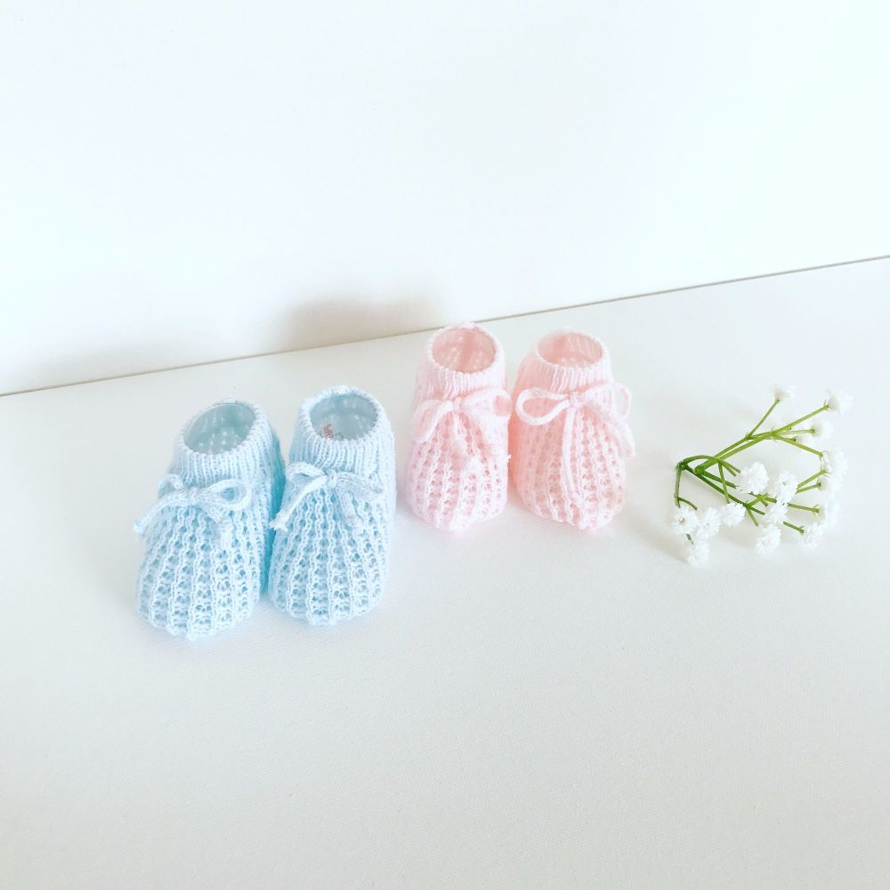 Knitted Cotton Booties
