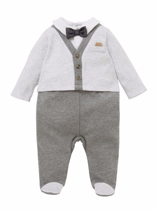 Mock Jacket & Trouser Suit All In One - Grey
