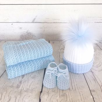 Newborn Winter Gift Set - Blue
