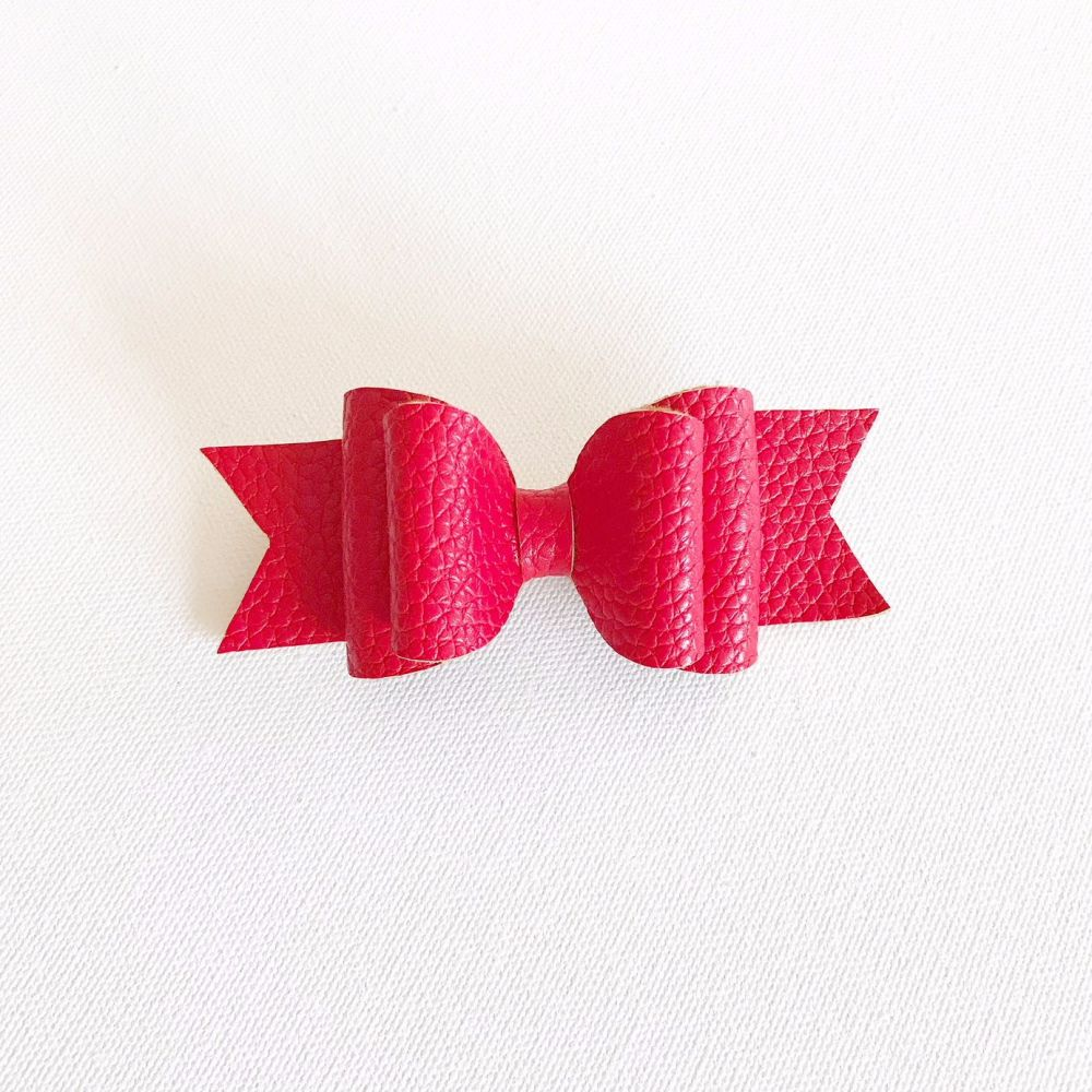 Poppy Double Bow Hair Clip