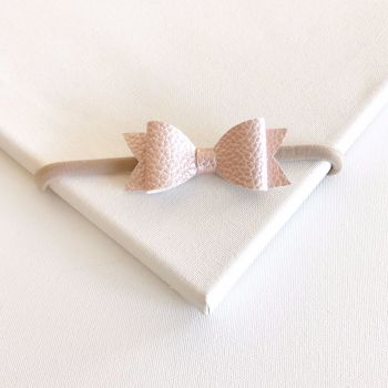 Pink Frost Bow Headband